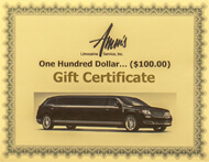 Amms Limousine Gift Card