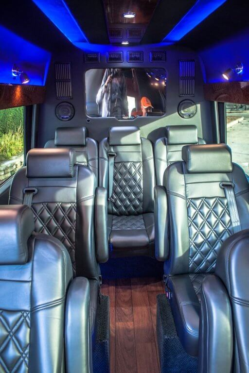 Ten Bentley Style Captains Chairs with directional reading lights